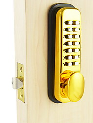 Mechanical Password Handle Lock,Deadbolt Lock, Gold Color, Zinc Alloy