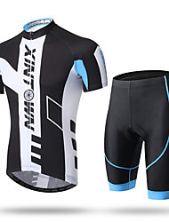 XINTOWN Cycling Jersey with Shorts Men's Short Sleeves Bike Shorts Pants/Trousers/Overtrousers Zip Top Jersey Padded Shorts/Chamois Tops