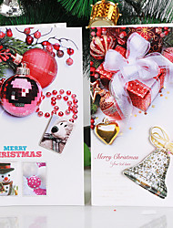 10Package Random Pattern Christmas Decoration Gifts Role Ofing Christmas Tree Ornaments Christmas Gift  Wish Card Greeting Card