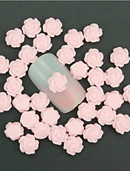 50Pcs  3D Nail Art Decoration Charm Jewelry Diy Design By Yourself Pink Flower Romantic Nail Stud Tipsdiy Nail Accessories