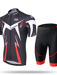 XINTOWN Cycling Jersey with Shorts Men's Short Sleeves Bike Pants/Trousers/Overtrousers Zip Top Jersey Padded Shorts/Chamois Shorts Tops