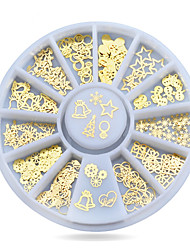 1pcs Metal Nail Art Sticker Decoration Wheel Christmas  DIY Nail Accessories