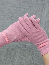 Women Lamb Fur Fingertips Wrist Length,Solid Casual Winter