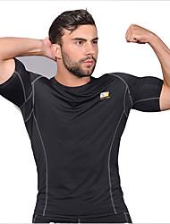 Laufen T-shirt Herrn Kurze Ärmel Atmungsaktiv / Rasche Trocknung Elastan Angeln / Übung & Fitness / Freizeit Sport / Radsport/Fahhrad