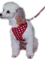 Cães Arreios / Trelas Retratável / Fantasias / Respirável / Segurança / Macio / Corrida / Colete / Casual SólidoVermelho / Preto / Azul /