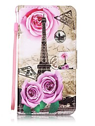 For Card Holder  Wallet  with Stand  Flip  Pattern Case Full Body Case Eiffel Tower Hard PU Leather for WikoWiko Lenny 3  Wiko Lenny 2  Wiko Fever 4G