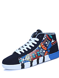 Men's Sneakers Spring Fall Winter Comfort Leatherette Outdoor Office & Career Casual Flat Heel Blue Red White