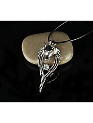 Homens Colares com Pendentes Colar Jóias Formato Animal Lobo imitação de diamante Liga Jóias de Luxo Personalizado Europeu Prata Jóias