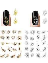 2pcs Sticker Manucure  Autocollants 3D pour ongles Maquillage cosmétique Manucure Design