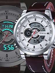Мужской Спортивные часы Армейские часы Нарядные часы Модные часы Наручные часы КварцевыйЗащита от влаги С двумя часовыми поясами