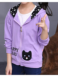 Girl Casual/Daily Polka Dot Trench Coat,Cotton Winter Long Sleeve