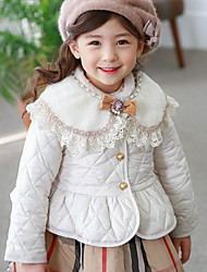 Girl Casual/Daily / Sports Solid Down & Cotton Padded,Cotton Winter / Fall Long Sleeve