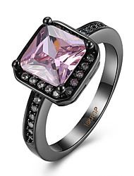 Ring AAA Cubic Zirconia Stainless Steel Simulated Diamond Light Pink Jewelry Casual 1pc