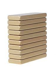 30X10X3mm Heat-resistant Super Rectangle Ndfeb Magnets (10 Lots)  Gold