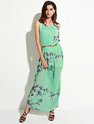 Women's Casual Micro Elastic Sleeveless Maxi Dress (Chiffon)