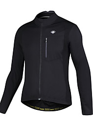 SANTIC® Cycling Jacket Men's Long Sleeve Bike Breathable / Insulated Winter Jacket / Jacket 100% Polyester Patchwork Fall/Autumn / Winter