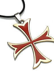 Necklace Jewelry Daily Casual Cross Fashion Personalized Alloy Men 1pc Gift Red