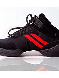 Sapatos de Dança(Vermelho / Dourado) -Feminino-Não Personalizável-Tênis de Dança