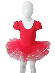 Ballet Dresses Women's / Children's Performance Cotton / Tulle / Lycra 1 Piece Short Sleeve Tutus