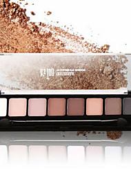 8 Paleta de Sombras Mate Paleta da sombra Creme Normal Maquiagem para o Dia A Dia