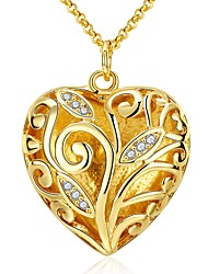 Women's Pendant Necklaces Jewelry Gold Plated Flower Flower Style Carved Classic Fashion Gold Jewelry Daily 1pc
