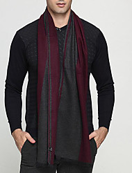 Men Acrylic Scarf,Casual RectangleCheck