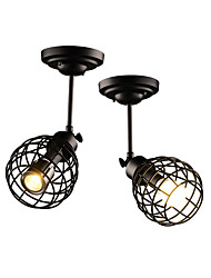 hot sale Black Birdcage Vintage Simple mini Ceiling Lamp Flush Mount lights Entry Hallway Game Room Kitchen Spot Lights