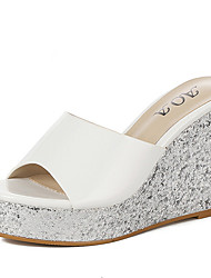 Women's Sandals Summer Slingback Glitter Casual Wedge Heel Sparkling Glitter Pink Silver Gold Others