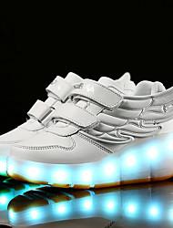 Para Meninos-Botas-Conforto Light Up Shoes-Rasteiro-Preto Azul Rosa Branco Prateado-Sintético-Casual