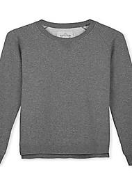 Trenduality® Herren Rundhalsausschnitt Lange Ärmel T-Shirt Dunkelgrau - ZZ022