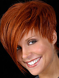 Popular HOT European Celebirty Wear Wig with Side Bang Heat Resistant New Short Brown Synthetic Wig for Women Party Wig