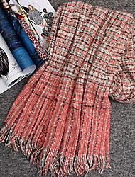 Women Acrylic Scarf,Casual RectangleStriped