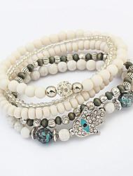 Women European Style Fashion Multilayer Beaded Cute Palm Strand Bracelet
