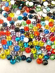 1000PC/Bag Nail Art Jewelry Nail Rhinestones Decorations Crystal Glitter Mixed Colors