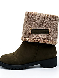 Women's Boots Winter Comfort Multi-way Thick Warn Suede Dress / Casual Chunky Heel Black / Green / Gray