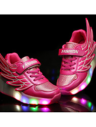 Girl's Sneakers Fall / Winter Comfort PU Casual Flat Heel Others / LED Green / Pink / Royal Blue / Orange Skate Shoes / Others
