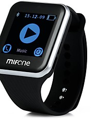 mifone intelligente Uhr mit 2.5d gewölbtes Saphir Touch Screen TPSiV Anti-Allergie Band bluetooth Smartwatch Telefon android Uhr