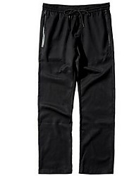 Hommes Droite Chino Pantalon,Vintage Décontracté / Quotidien Couleur Pleine Taille Normale Cordon Coton Micro-élastique Sangle