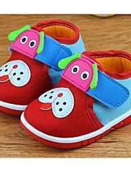 Mädchen Baby-Sneaker-Lässig-LeinwandKomfort-Blau Rot
