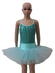 Ballet Outfits Women's / Children's Performance Nylon / Sequined / Tulle / Lycra Sequins 1 Piece Sleeveless Leotard / Shorts / Tutus