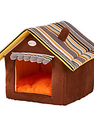 Cat Dog Bed Pet Mats & Pads Soft Yellow Coffee Green