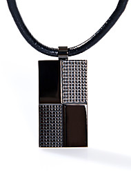 Fashion Men's Square 316L Stainless Steel Pendant Necklace Jewelry
