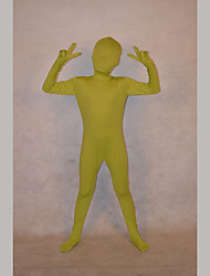 Festival/Holiday Costumes Light Green Solid Zentai Kid Lycra Fully Covered