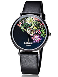 BAOSAILI Women's Fashion Watch Japanese Quartz Colorful Leather Band Flower / Casual Black / White / Red Brand