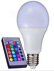 10W B22 E26/E27 Ampoules LED Intelligentes A80 9 SMD 3014 1100 lm RVB Gradable Commandée à Distance Décorative AC 85-265 V 1 pièce