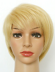 New Short Blonde With Bang Naturl Wave Party Women Full Wig Heat Resistant High Quality