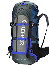 60 L Travel Organizer / Backpack / Hiking & Backpacking Pack Camping & Hiking / Traveling Outdoor Multifunctional Blue / OrangeNylon /