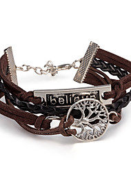 Women's Wrap Bracelet Leather Bracelet Bracelet Loom Bracelet Leather Alloy Punk Brown Jewelry 1pc