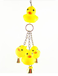 Bird Toys Metal Plastic Yellow