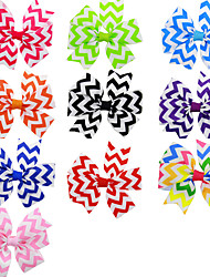 10Pcs/set Baby Girls Cheveron Hair Clips Todder Hair Accessories Infant Hairband